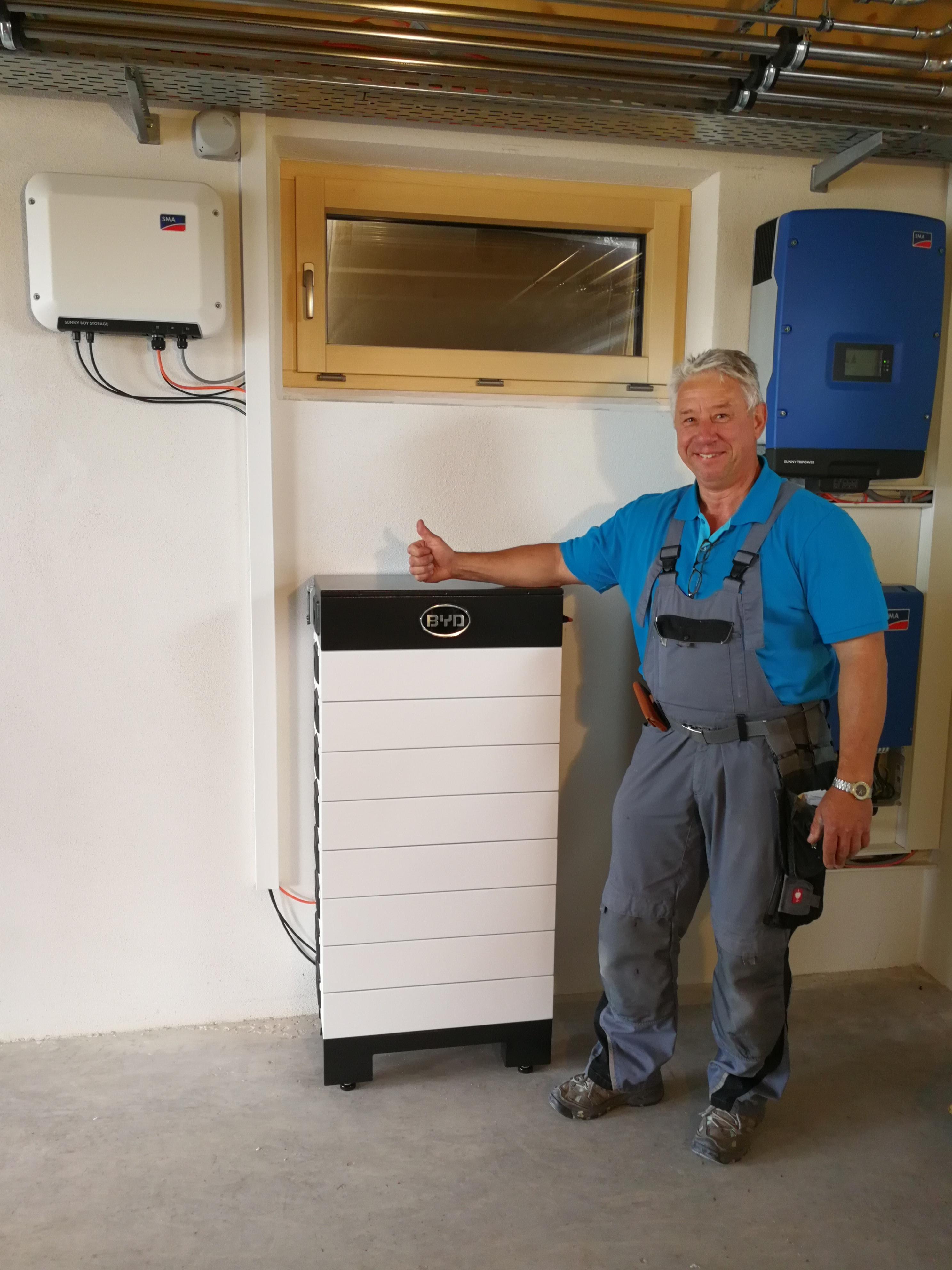 BYD Battery-Box Hochvolt-Lithium-Speichersystem (Anwender Reinhold Hieronymus)
