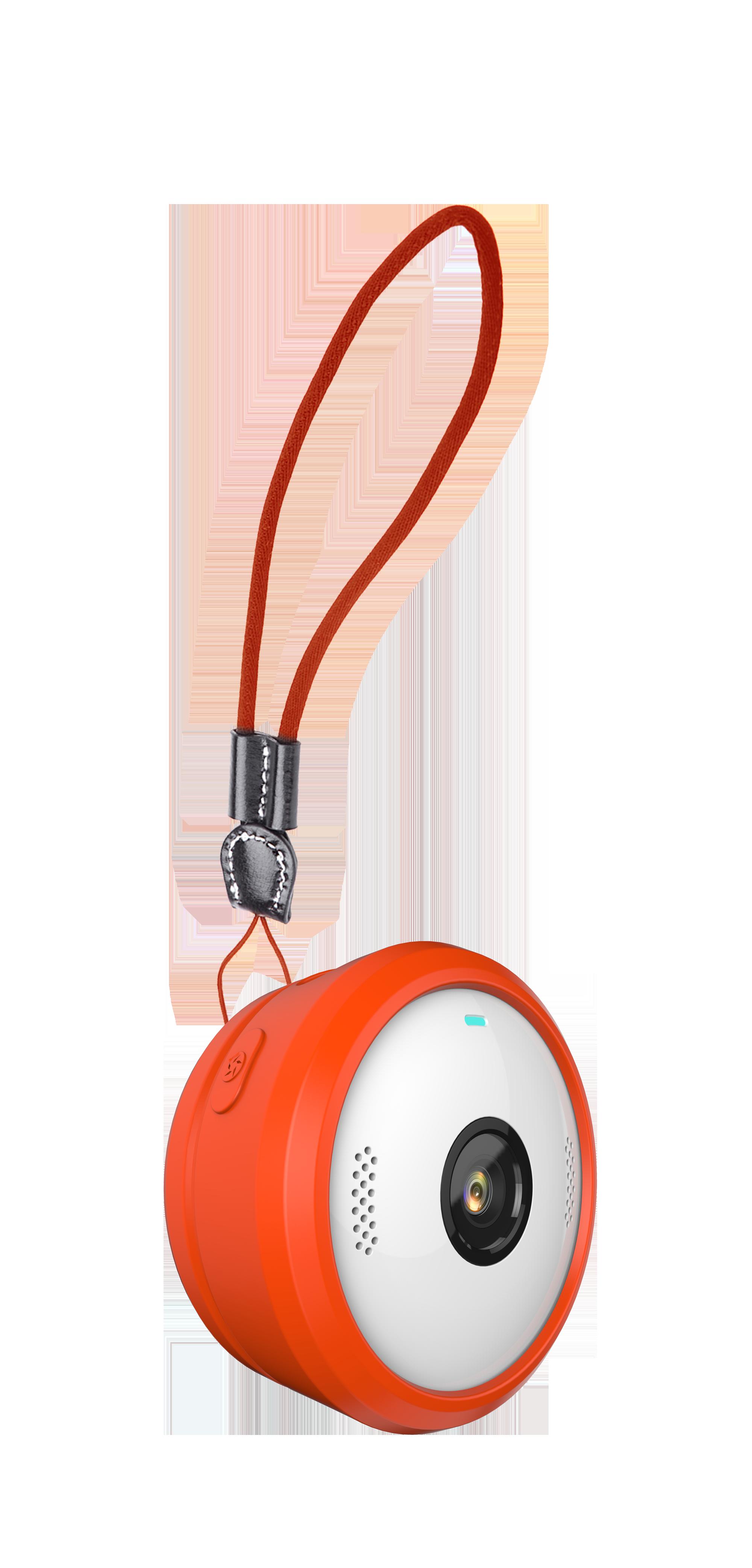 VerveCam+ mit Stoßschutz und Trageband (freigestellt)