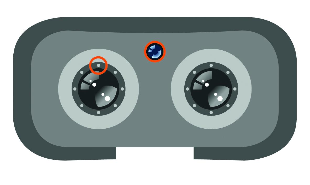 VR-Brille (innen)