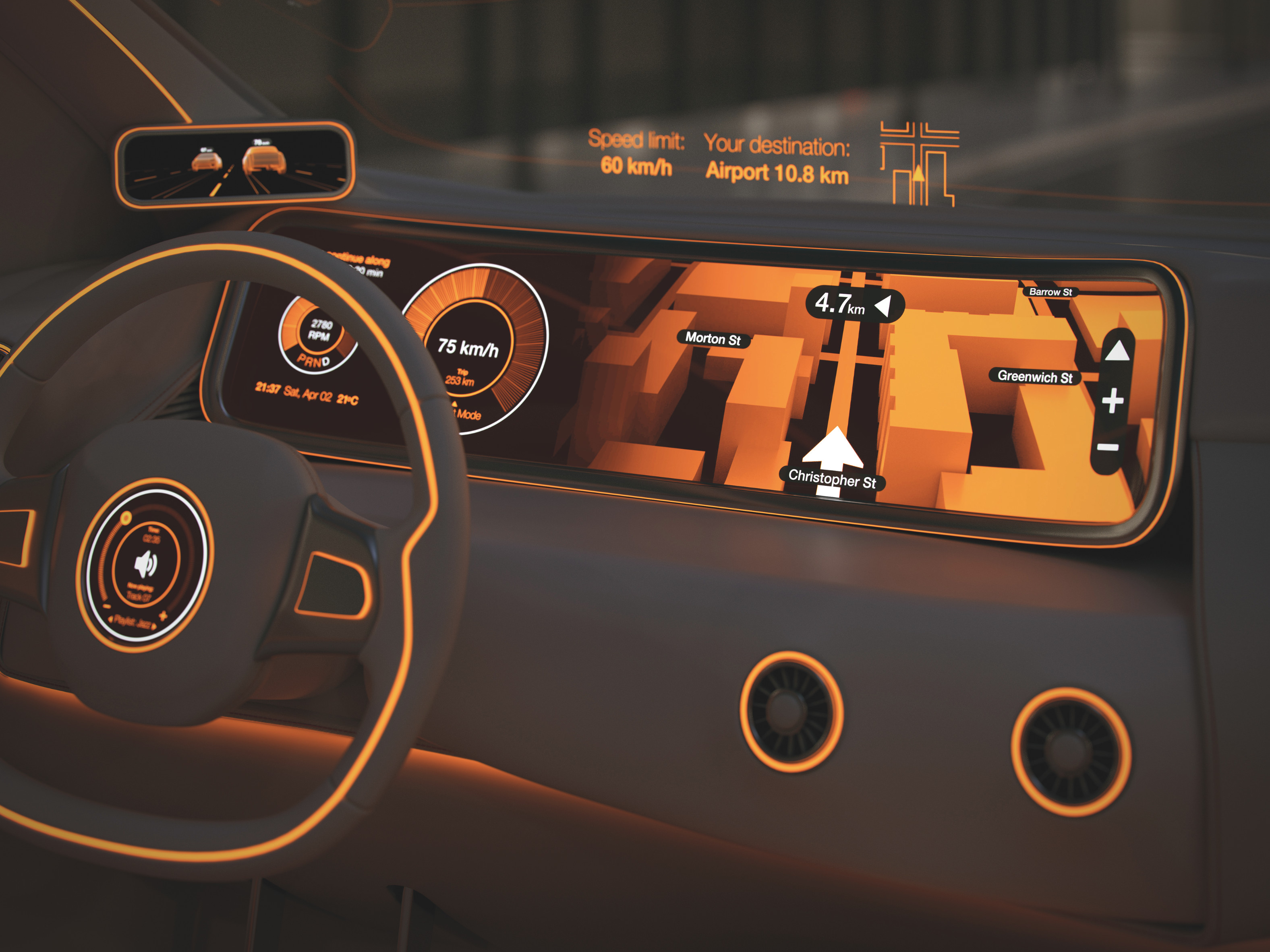 Fahrzeug-Displaybeleuchtung
