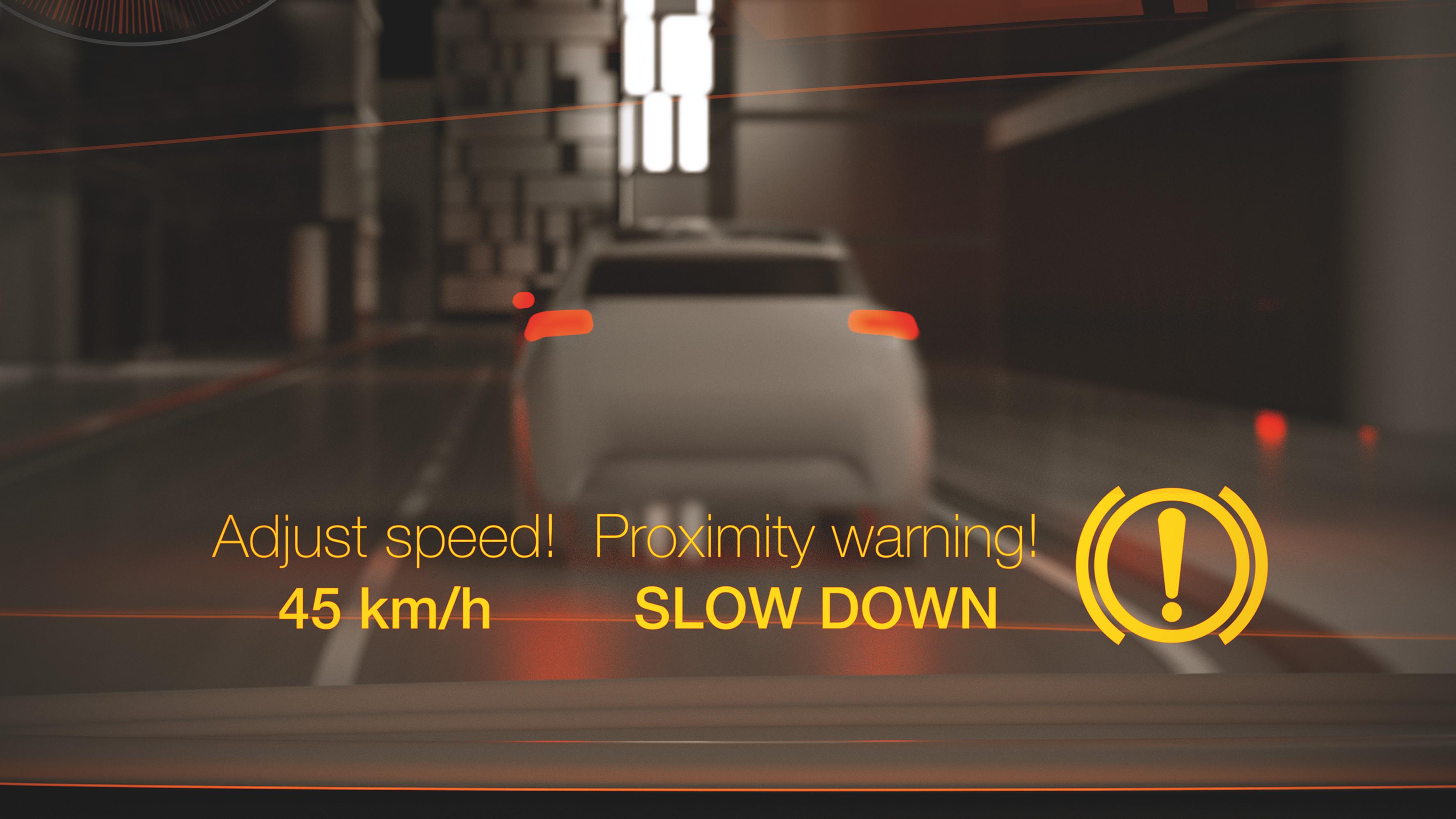 Abstands-Warnung