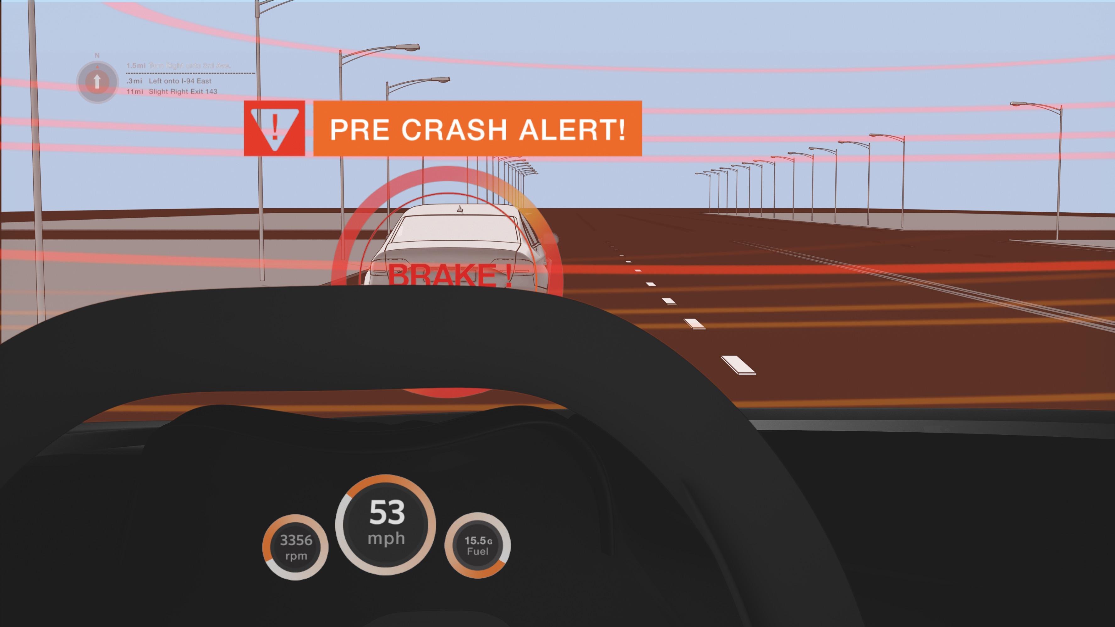 Pre-Crash Warnung