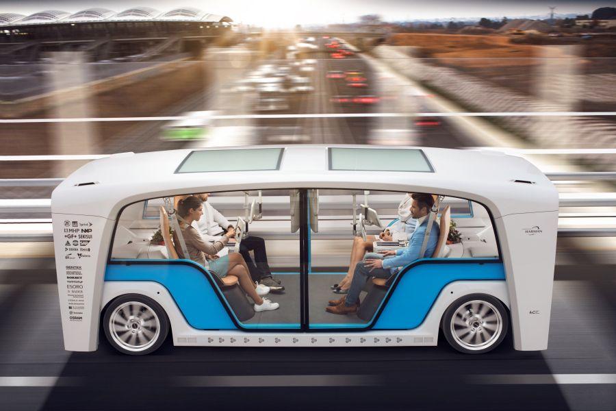 Konzeptfahrzeug Snap von Rinspeed zum Autosalon Genf 2018