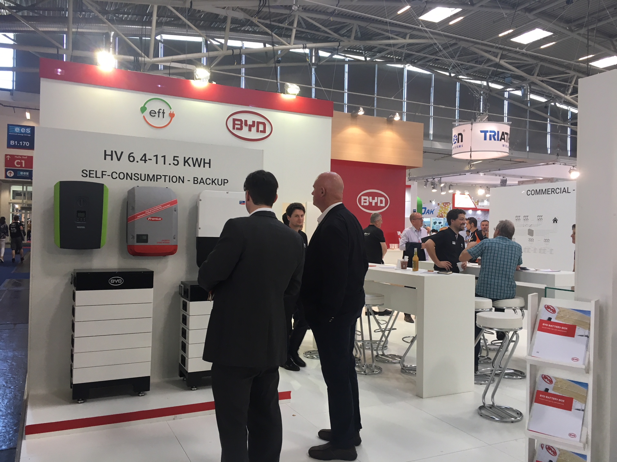 Messestand BYD Battery-Box auf der ees