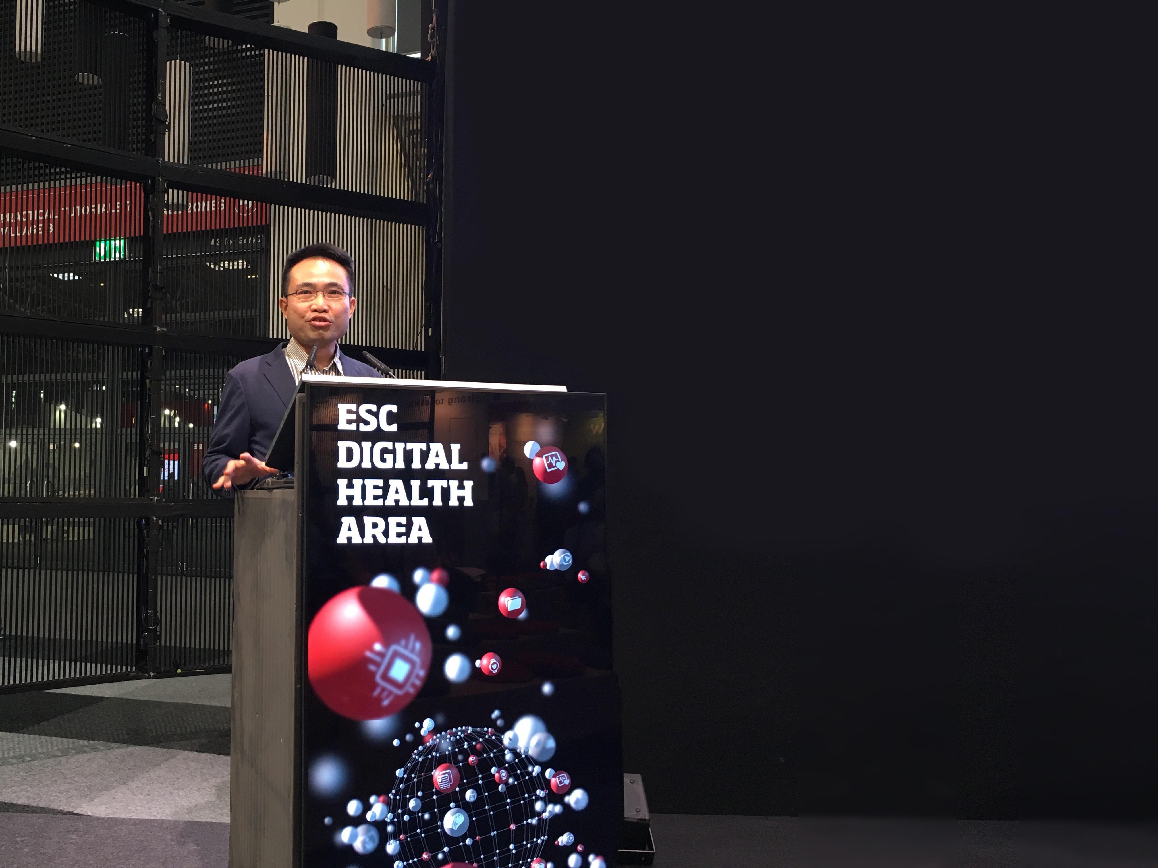Bach Chen, CEO von Maisense, auf dem ESC Congress in München