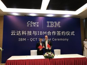 QCT IBM Cooperation-Signing-Ceremony / MikeYang, President QCT(left), Brian Tse, General Manager, Greater China Group GTS at IBM (right)