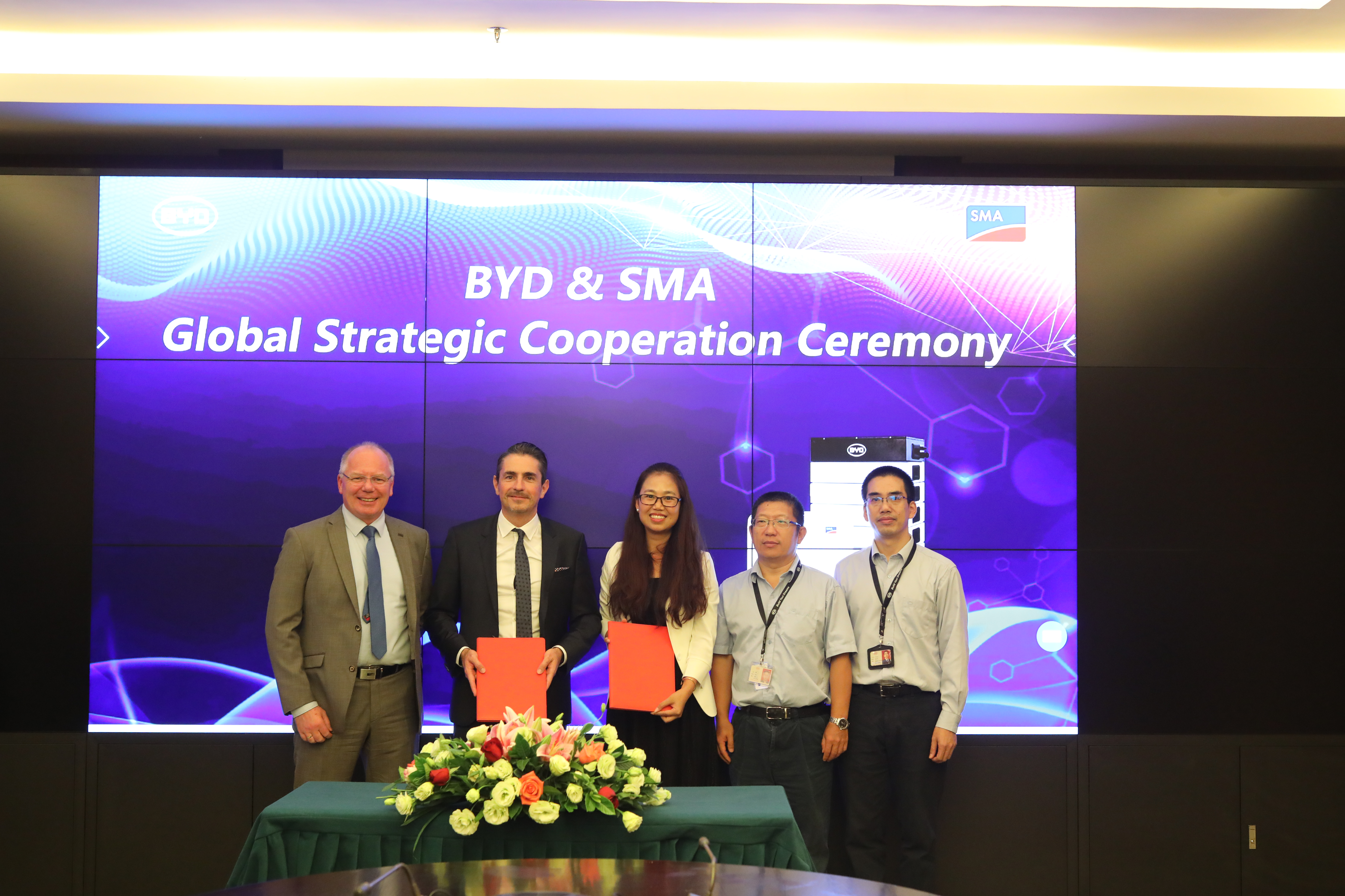 Strategische Partnerschaft zwischen BYD und SMA