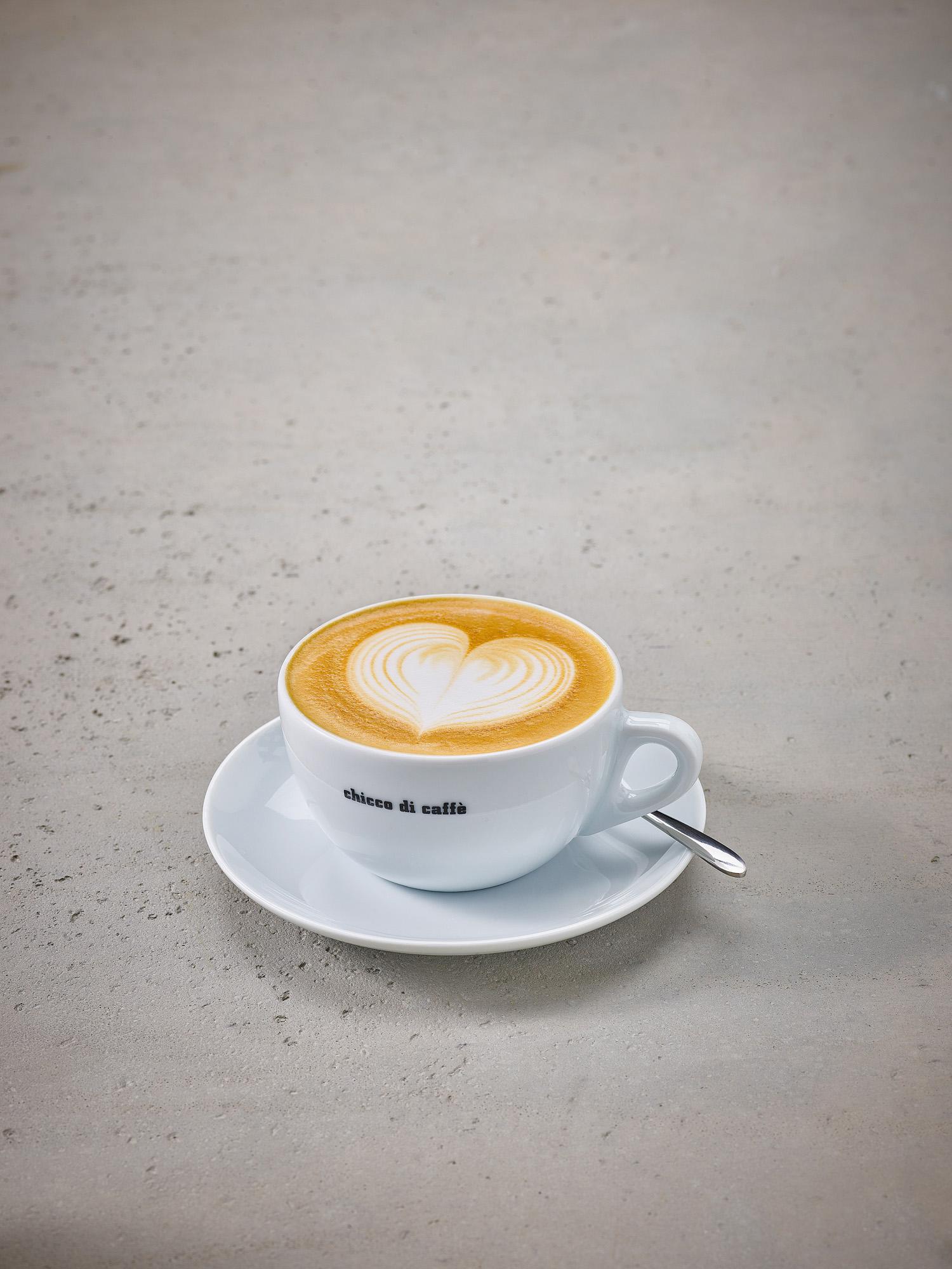 chicco di caffè - Latte Art