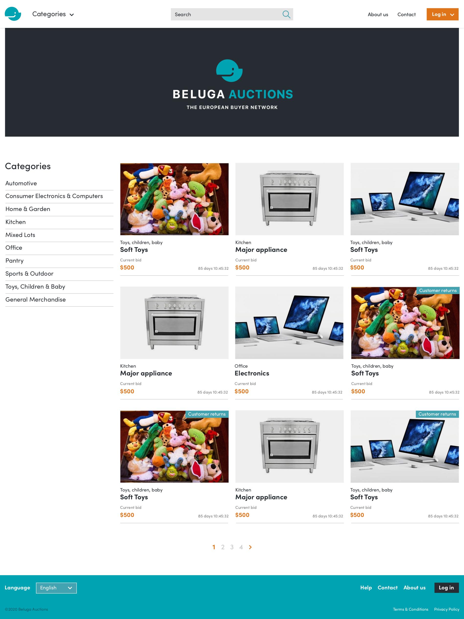 BELUGA Plattform - Screenshot 1