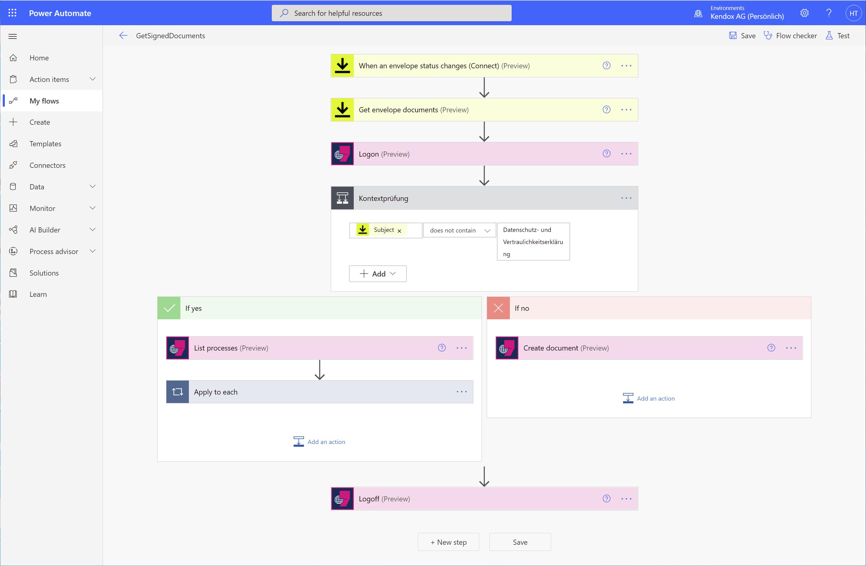 Low-Code Prozesskonfiguration mit Power Automate und Kendox InfoShare